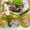 Enchiladas Verdes con Queso Cottage