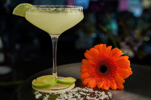 Margarita with a margarita flower